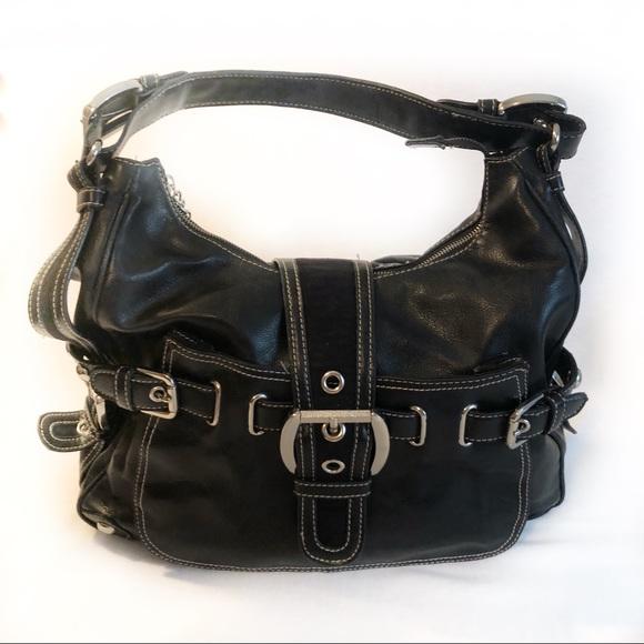 6ded0bd4c Kathy Van Zeeland Bags | Black Leather Hobo Handbag Large | Poshmark